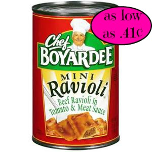 Chef Boyardee just .41¢ @ Bi Lo!!! Today only!