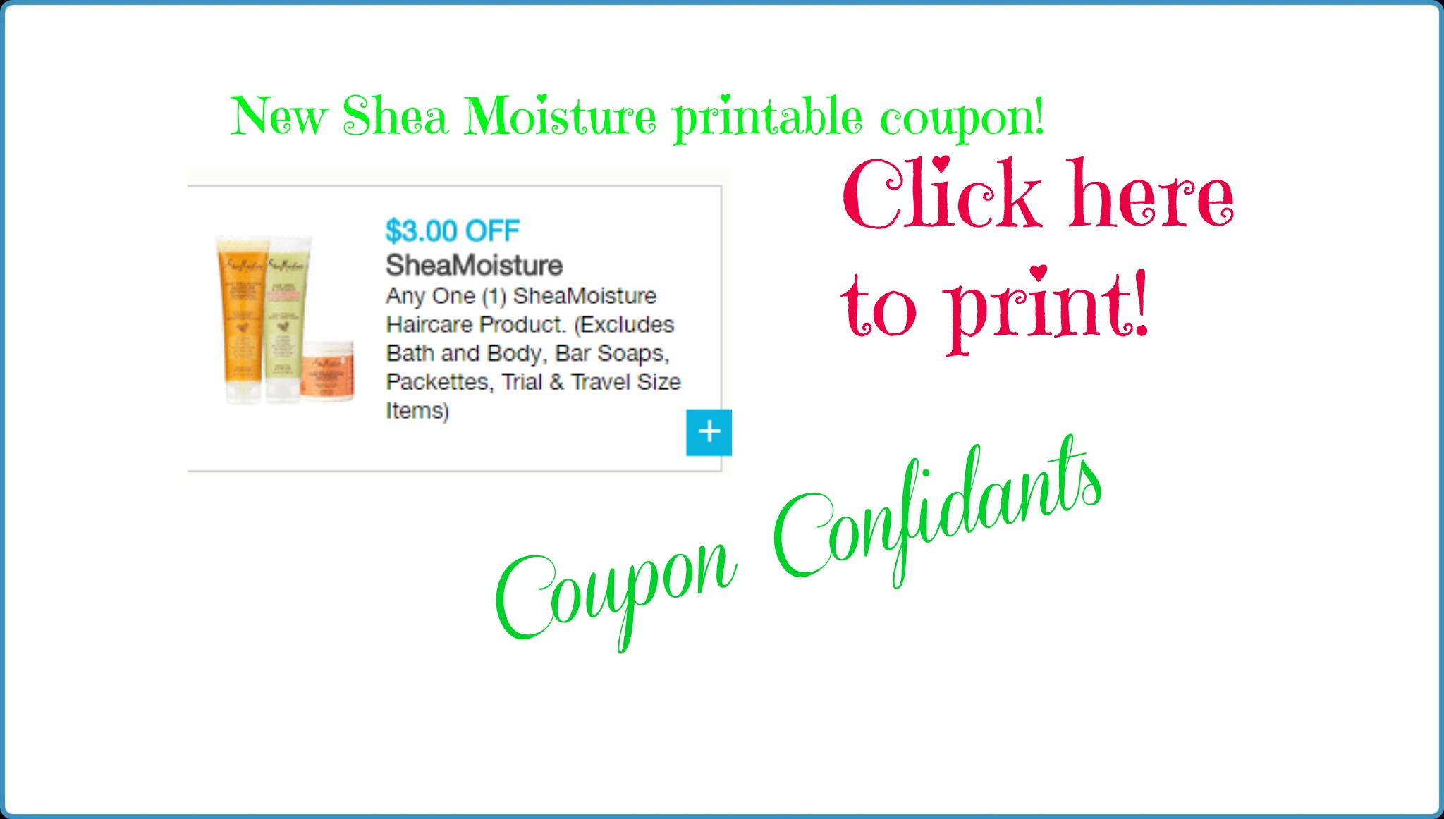 image regarding Shea Moisture Printable Coupons known as Scorching fresh $3/1 Shea Dampness coupon! Simply click listed here towards print