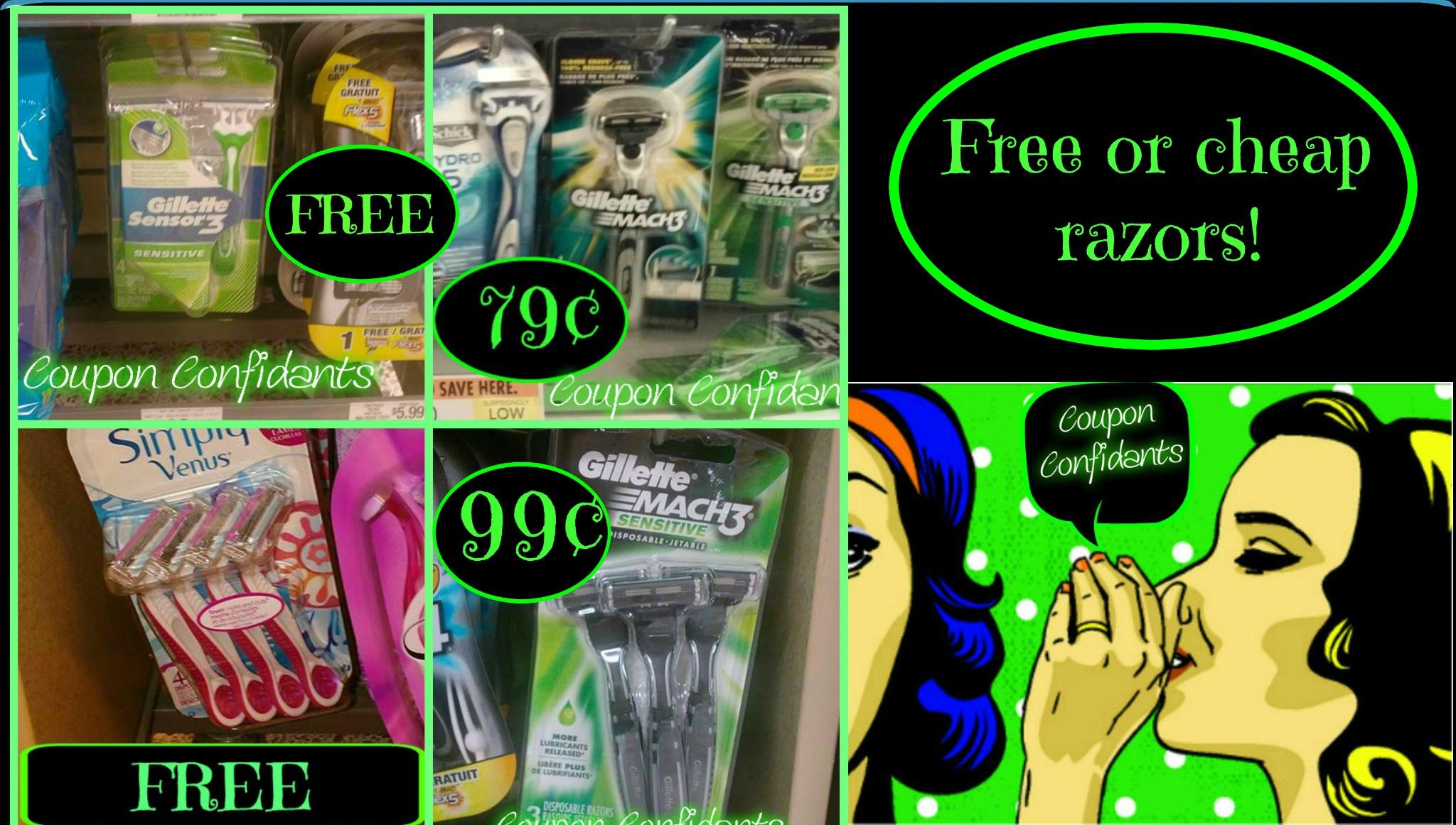 Free gillette razor coupons