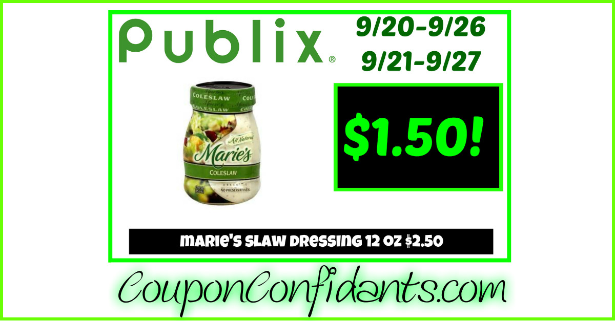 marie 39 s dressing publix coupon confidants. Black Bedroom Furniture Sets. Home Design Ideas