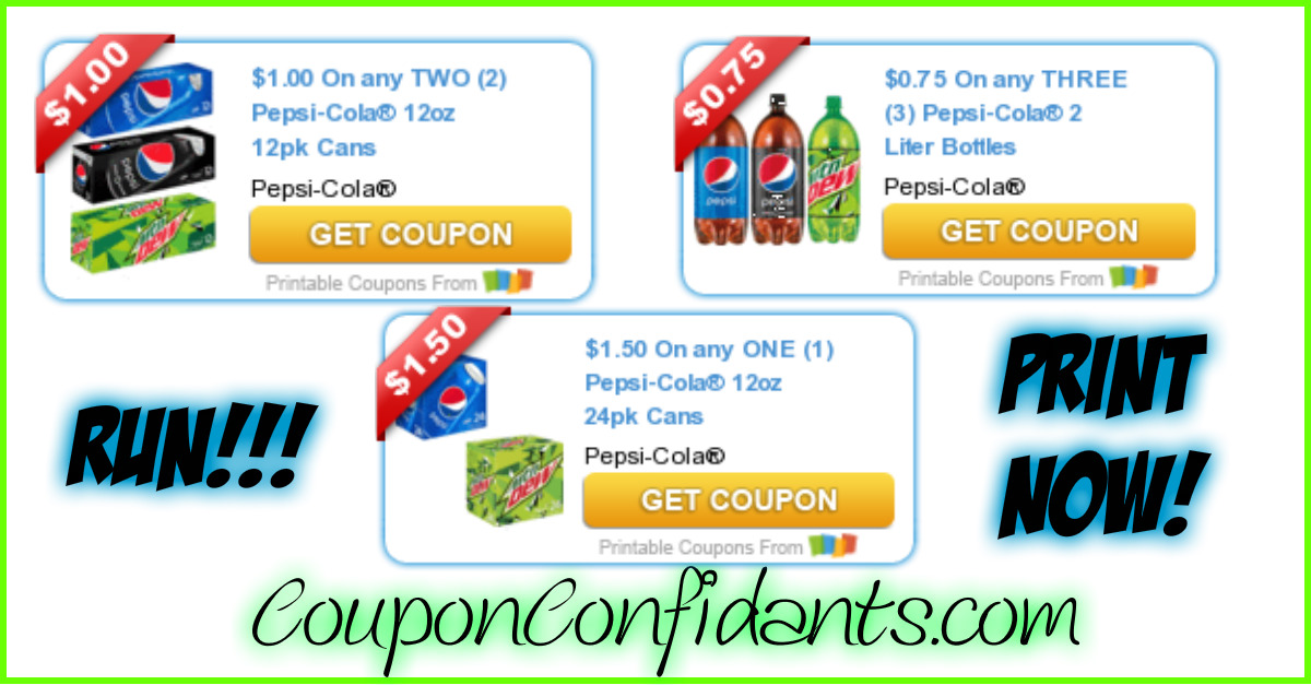 Like Pepsi coupons? Try these...
