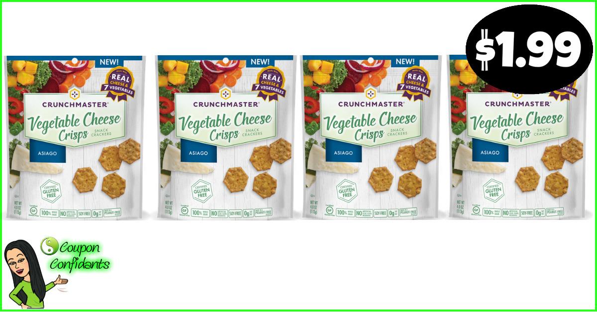 Crunchmaster Veggie Crisps Only 1 99 At Publix Coupon Confidants