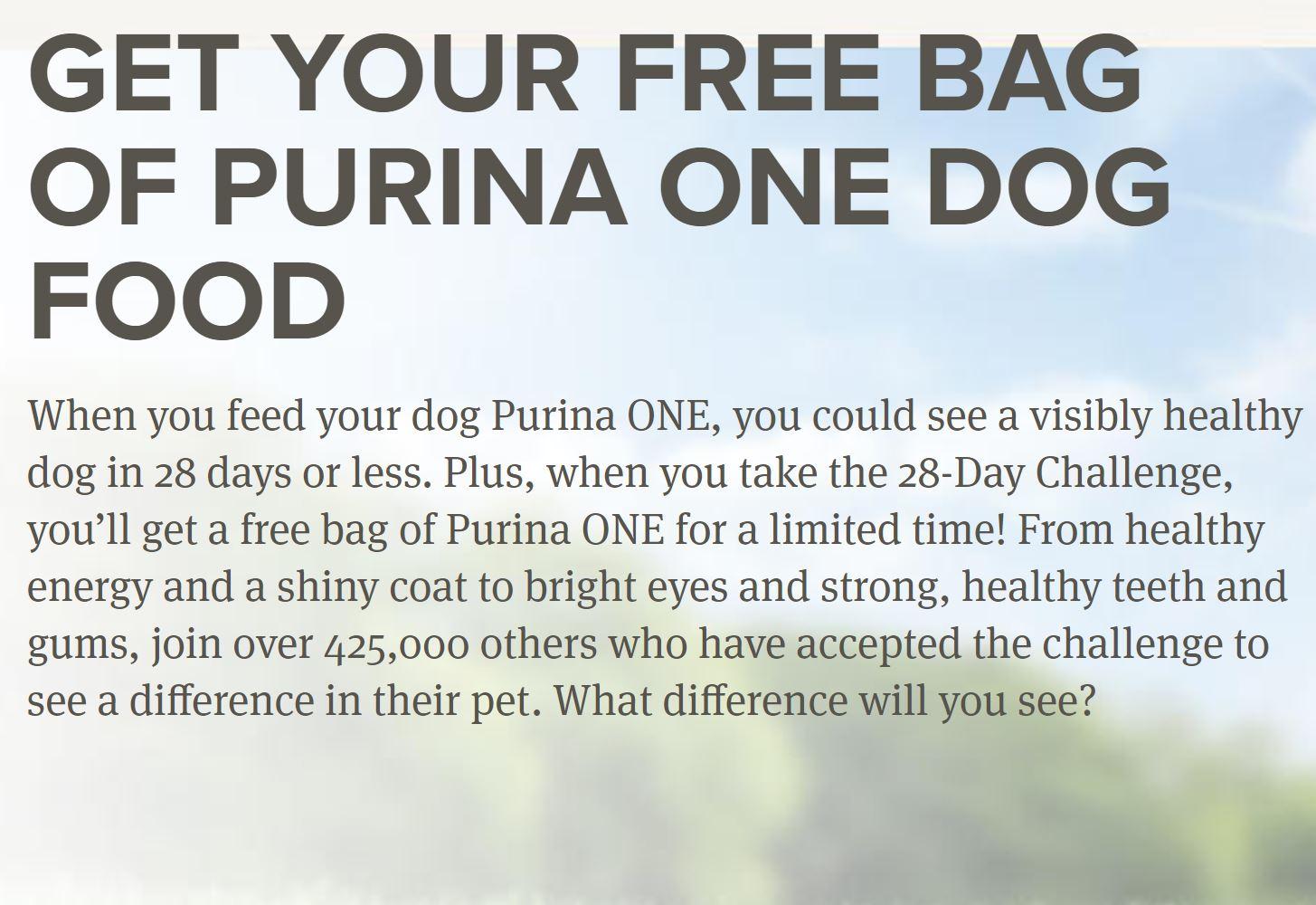Free Bag Of Purina One Dog Food Coupon Confidants