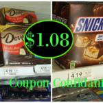 New printable coupon: Snickers & Dove miniature ice cream bars just $1.08 each @ Publix!
